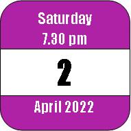Saturday 2 April 2022