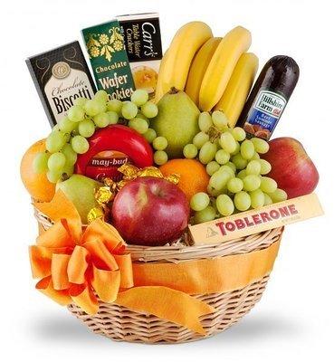 Gourmet Food and Fruit Basket