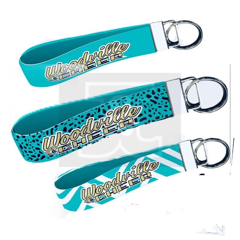 Woodville Jaguars Wristlet Key Fob