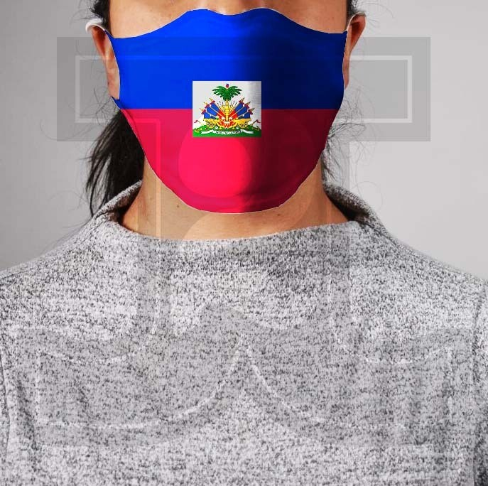 *PRE-ORDER* Premium Cloth Mask with Built-In Filter - Haitian Flag
