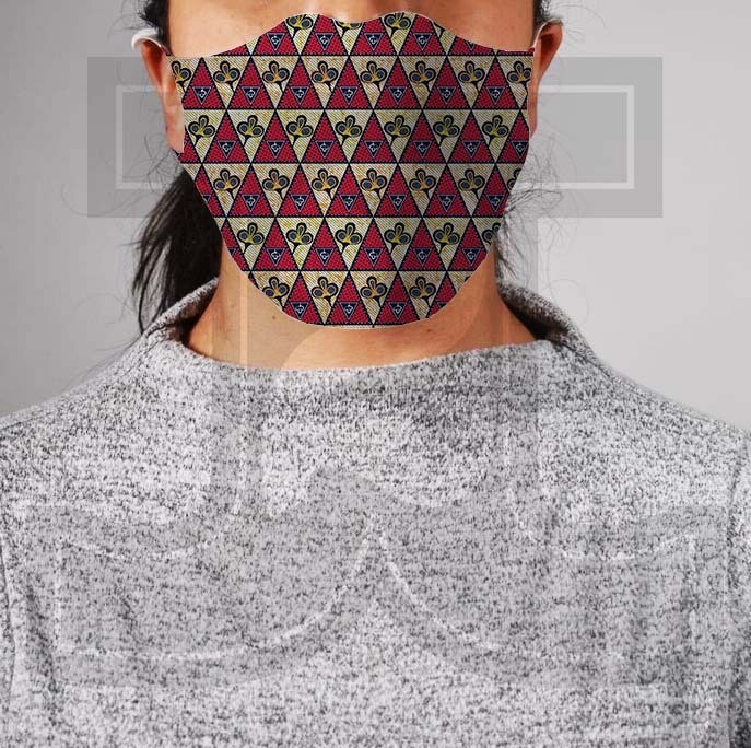 *PRE-ORDER* Premium Cloth Mask with Built-In Filter - African Wax 1