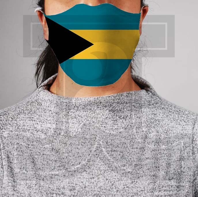 *PRE-ORDER* Premium Cloth Mask with Built-In Filter - Bahamas Flag