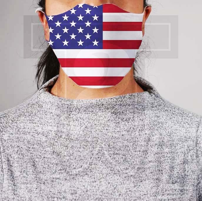 *PRE-ORDER* Premium Cloth Mask with Built-In Filter - American Flag