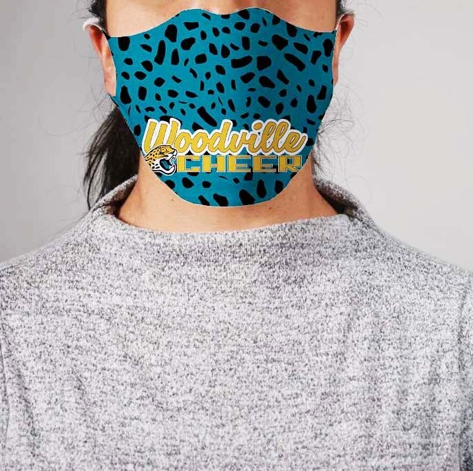 *PRE-ORDER* Premium Cloth Mask with Built-In Filter - Woodville Jaguars Cheer