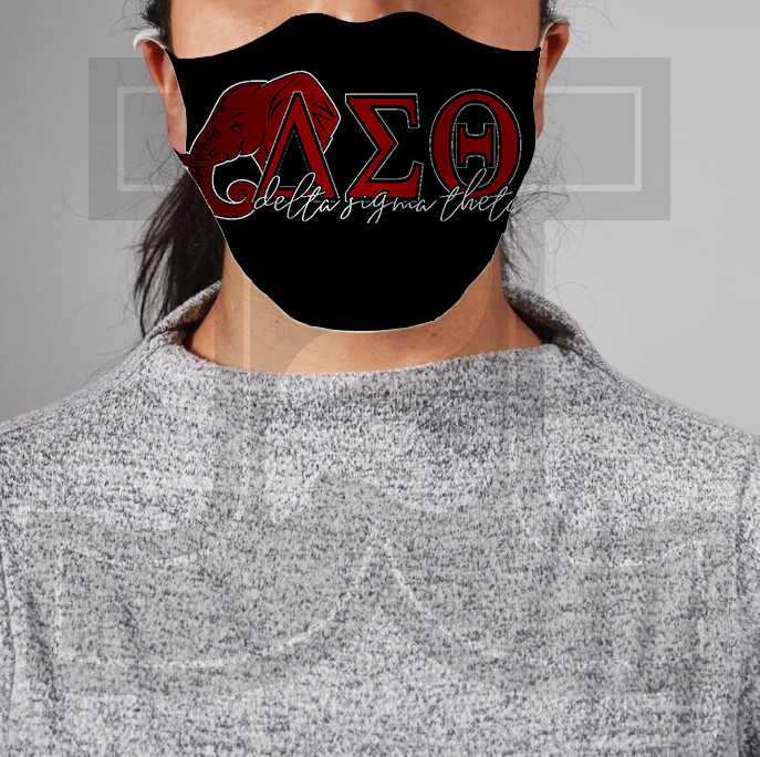 *PRE-ORDER* Premium Cloth Mask with Built-In Filter - Delta Sigma Theta 1