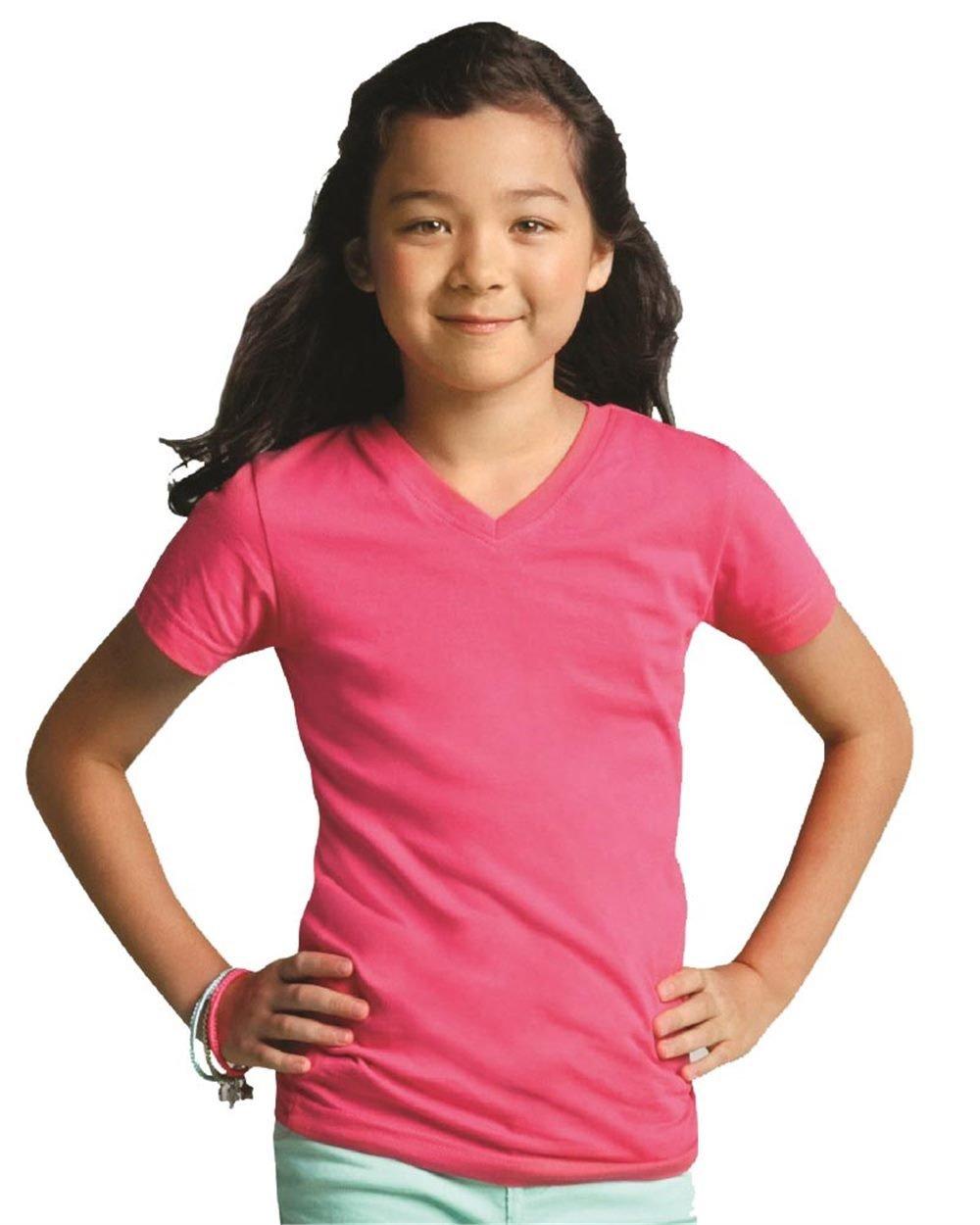 Girl's V-Neck Jersey Tee - (STYLE#STLT002607)