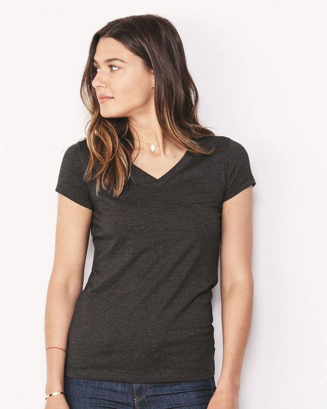 Women's Short Sleeve Jersey V-Neck Tee - (STYLE#PRBC006005)