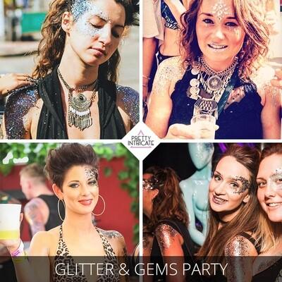 Open Bar, Glitter & Gems Party