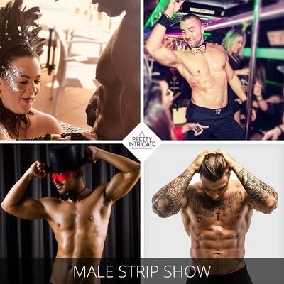 Drinks, Glitter & Ibiza male stripper package
