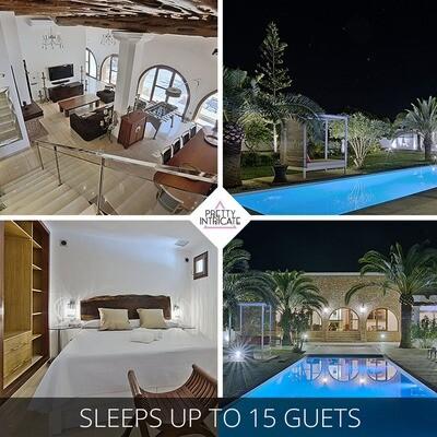 6 - 15 Pax  Ibiza Villa