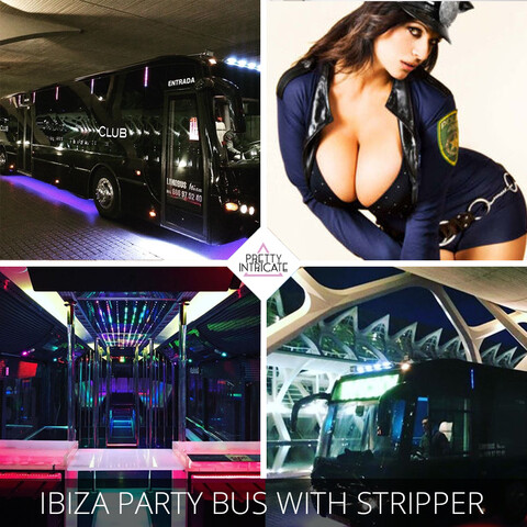 Ibiza party bus with female stripper