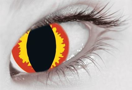 Yellow & Red Slit Eye Fire - From £19.99