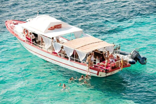 Ibiza boat activity charter package