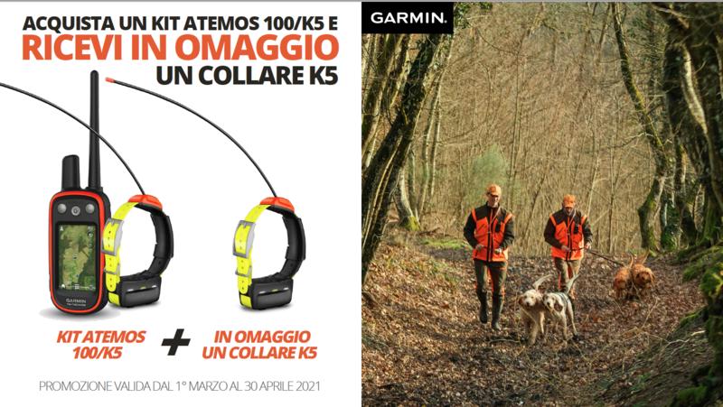Atemos 100/K5 + collare K5 in Omaggio  - GARMIN