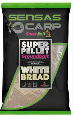 Super Pellet  GROUNDBAIT WHITE BREAD - Sensas