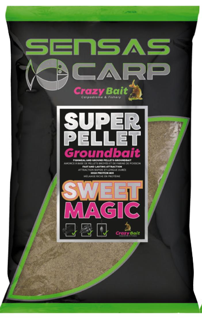 Super Pellet  GROUNDBAIT SWEET MAGIC - Sensas