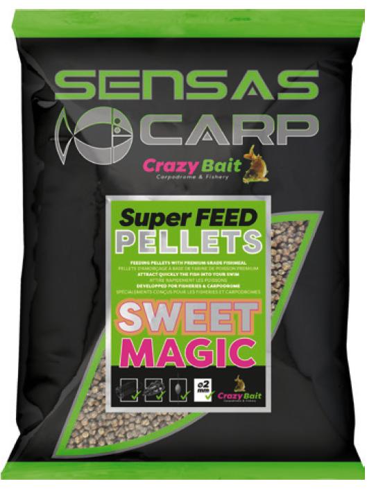 Super Feed Pellet BLACK HALIBUT - Sensas