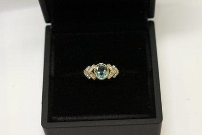 Yellow Gold, Tourmaline and Diamond Ring