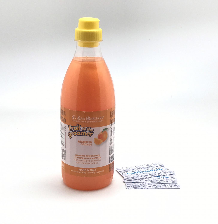 ISB Fruit of the Groomer Orange Шампунь для слабой выпадающей шерсти с силиконом 1 л