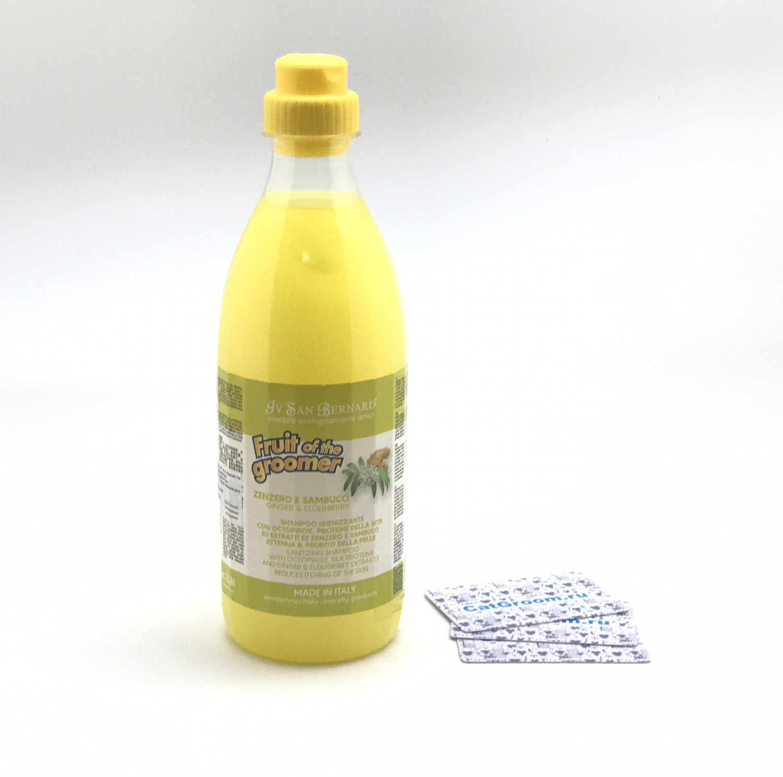 ISB Fruit of the Groomer Ginger&Elderbery Шампунь для любого типа шерсти против раздражений и перхоти 1 л