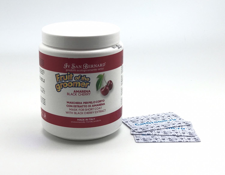 ISB Fruit of the Groomer Black Cherry Восстанавливающая маска для короткой шерсти с протеинами шелка 1 л
