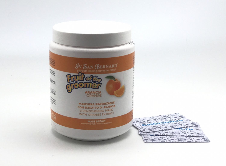 ISB Fruit of the Groomer Orange Восстанавливающая маска для слабой выпадающей шерсти с силиконом 1 л