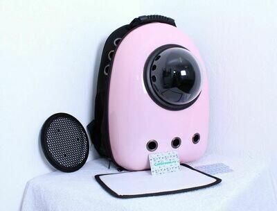 Рюкзак-переноска с иллюминатором, розово-матовая, светлая