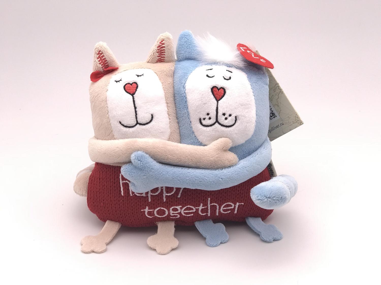 Игрушка  Кот и Кошка счастливы вместе 15 см