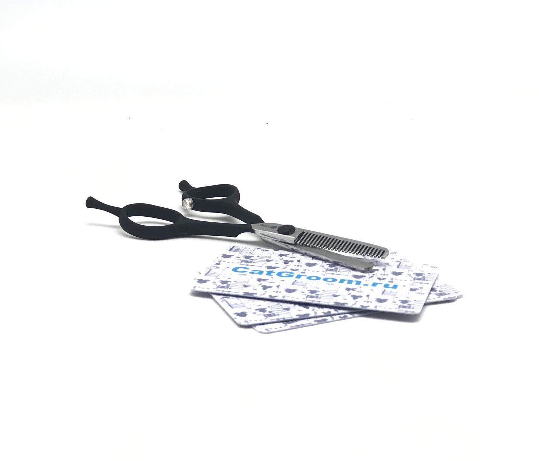 Ножницы филлировочные DIMI черные/зеленые