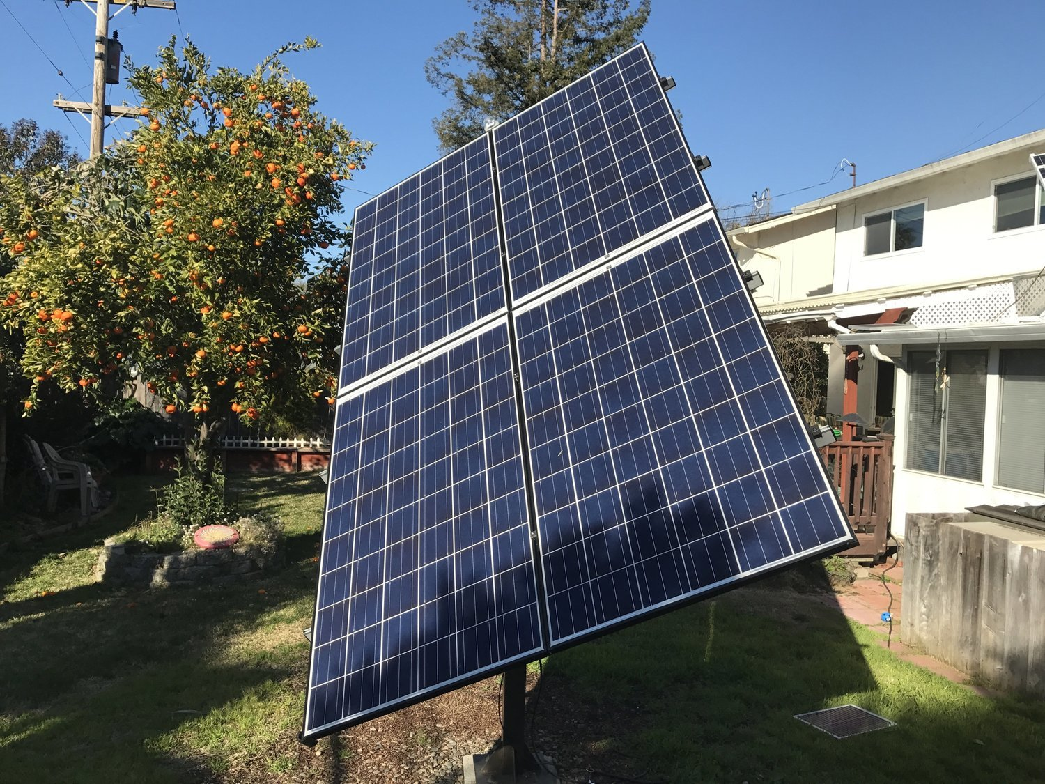 sTracker Dual Axis Solar Tracking System with Solar Panels and Inverters