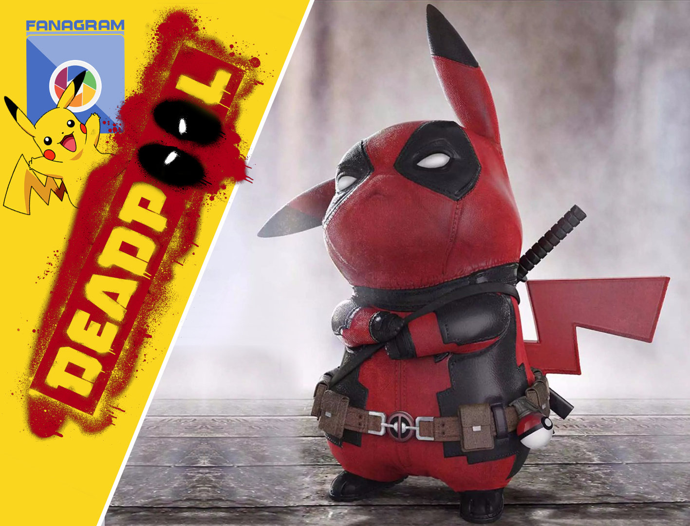 Deadpool Pikachu Collectible Model Figure