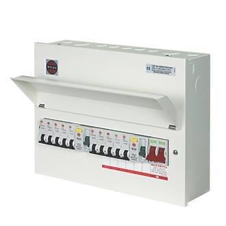 Wylex - 10 Way Split Load Consumer Unit - Fully Loaded | Wylex 17th Edition Fuse Box |  | Fusebox Electrical Supplies