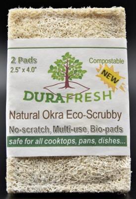 Dura Fresh Natural Okra Eco-Scrubby (2 Pack)