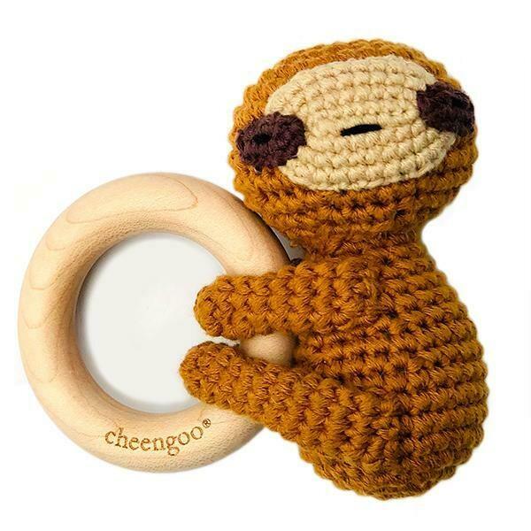 Cheengoo LittleCuddler - Sloth Teething Rattle