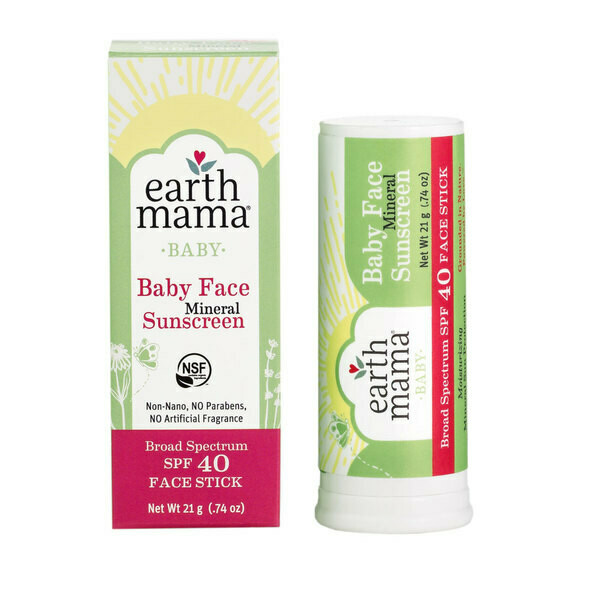 Earth Mama Baby Face Mineral Sunscreen Stick