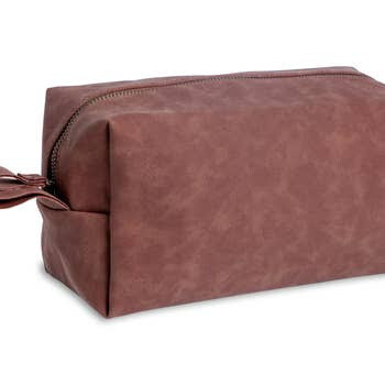 Faux Leather Toiletry Travel Bag