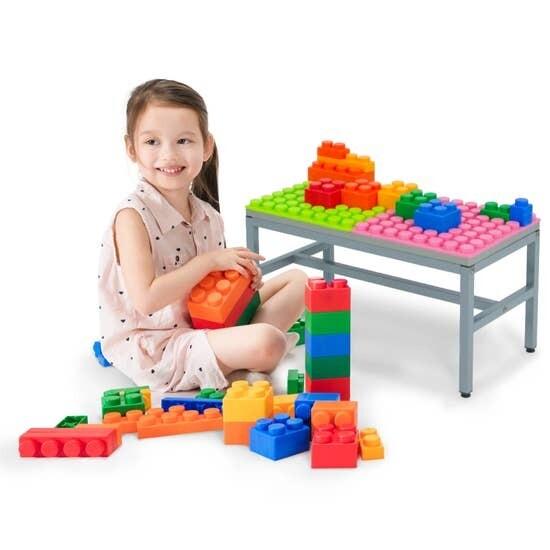 UNiPLAY Antibacterial Soft Building Blocks Table