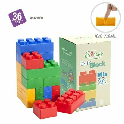 UNiPLAY Mix Plus Soft Building Blocks 34pcs