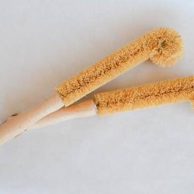Coconut bottle brush, zero waste, coir brush, plastic free