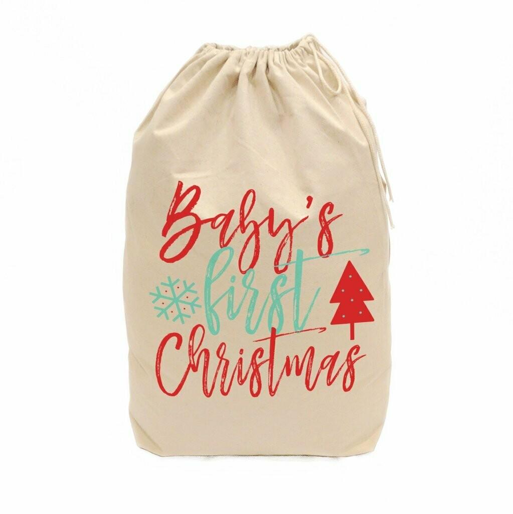 Canvas Christmas Gift Sack - Gift Bag