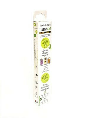 The future is bamboo - Bamboo Straws 6pk with Cleaning Brush