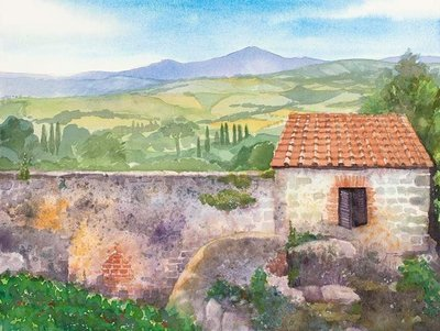Pienza Wall
