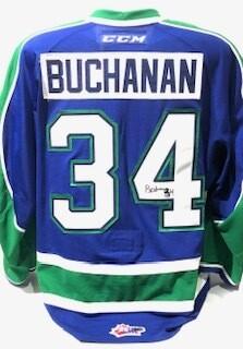 2018/19 Kye Buchanan Game Worn Blue Jersey