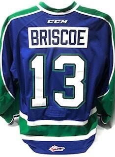 2018/19 Ian Briscoe Game Worn Blue Jersey