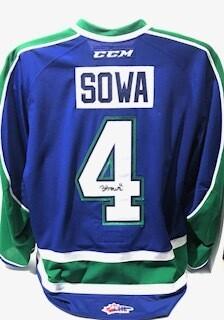 2018/19 Billy Sowa Authentic Game Worn Blue Jersey