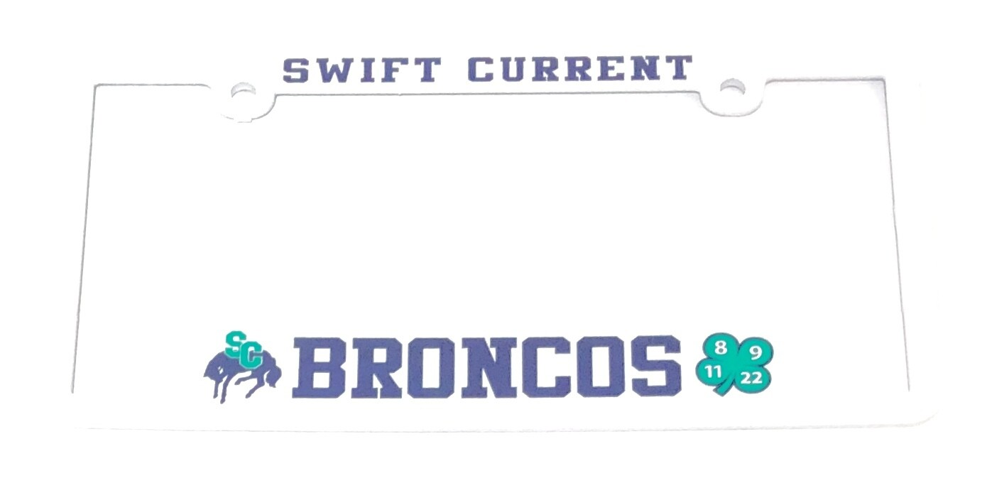 Broncos License Plate