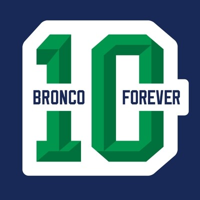 #10 Bronco Forever Colby Cave Tribute Decals