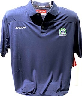 CCM Adult Navy Blue Polo