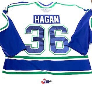2019/20 Bode Hagan Authentic Game Worn White Jersey