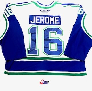 2019/20 D-Jay Jerome Authentic Game Worn White Jersey